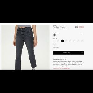 Brand NEW with TAG Aritzia Levi's Straight Jeans!